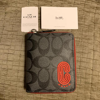 COACH - 最新作 新品 本物 コーチ メンズ 二つ折り財布 小銭入れ コインケース ジップ