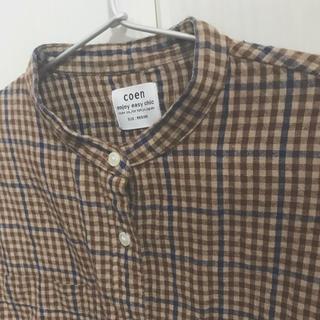 coen - coen winter linen band collar shirt