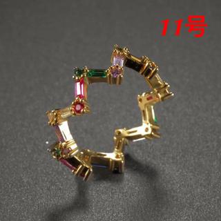 マルチカラータイプwaveオシャレなデザインリング(リング(指輪))