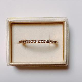 【新品】高見え♪ リング スワロスキー ピンクゴールド k18rgp (リング(指輪))