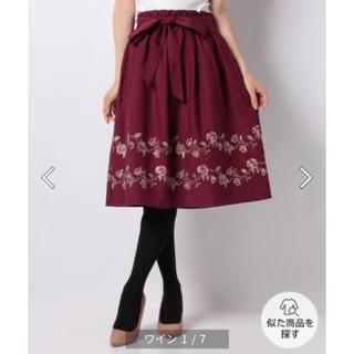 axes femme - axes femme ばら刺繍フレアスカート