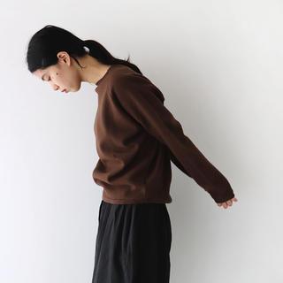 Veritecoeur - 今期新品ヴェリテクールFelt Plain Knitting Pullover