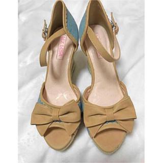 LIZ LISA - リズリサ ベルト ウェッジ りぼん サンダル 靴