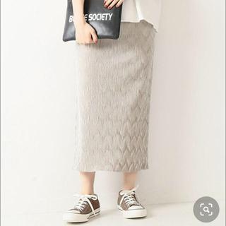 Spick and Span - スピック&スパン ベルベットプリーツタイトスカート