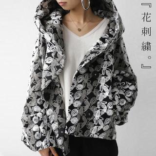 antiqua - 【完売中】antiqua / 花刺繍ビッグフードコート
