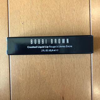 ボビイブラウン(BOBBI BROWN)のボビィブラウン クラッシュドリキッドリップ 02 ビッグアップル(口紅)