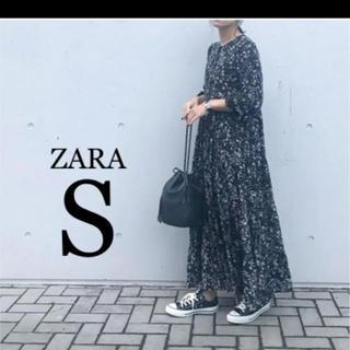 ZARA - 【新品・未使用】ZARA フラワー柄 ワンピース S