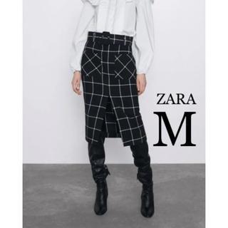 ZARA - 【新品・未使用】ZARA チェック柄 ペンシルスカート M