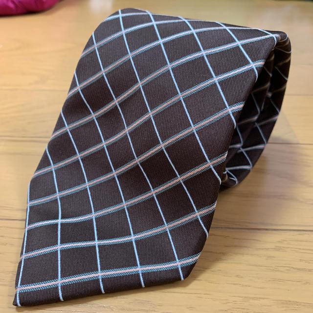 BURBERRY(バーバリー)のBURBERRY バーバリー ネクタイ 茶 ブラウン チェック 状態良好 メンズのファッション小物(ネクタイ)の商品写真
