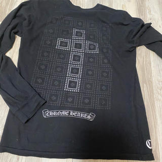 Chrome Hearts - クロムハーツ長袖Tシャツ黒クロスシルバーChrome hearts