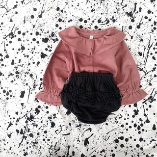 petit main - 西松屋/襟ブラウス 韓国子供服 80cm