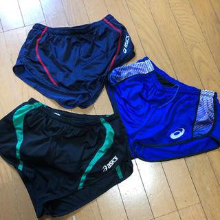asics - アシックス 男子ランニングパンツ3枚