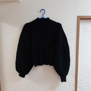 rienda - riendaニット(ブラック)