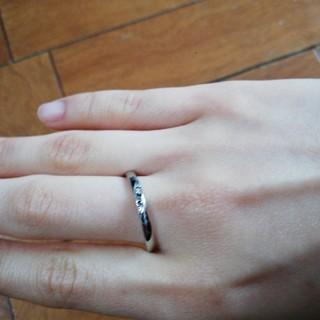 ステンレスブラックダイヤリング(リング(指輪))