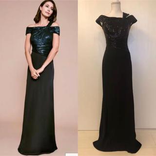 タダシショウジ(TADASHI SHOJI)の新品 Tadashi shoji タダシショージ ブラック ロングドレス(ロングドレス)