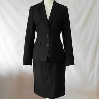 パーソンズ(PERSON'S)の美品パーソンズシンプルな黒いセットアップスーツ、サイズ13号。PERSON'S(スーツ)