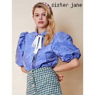Sister Jane シスタージェーン パフスリーブ ジャガードブラウス(シャツ/ブラウス(半袖/袖なし))
