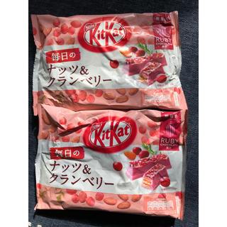 ネスレ(Nestle)のネスレ キットカット 毎日のナッツ&ベリー ルビー 2袋セット(菓子/デザート)