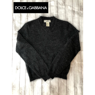 ドルチェアンドガッバーナ(DOLCE&GABBANA)のDolce&Gabbana モヘアセーター ニット ダークグレー 美品(ニット/セーター)