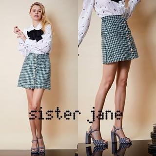 Sister Jane シスタージェーン チェックツイードミニスカート(ミニスカート)
