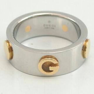 グッチ(Gucci)の【USED】GUCCI グッチ コンビリング steel and gold(リング(指輪))