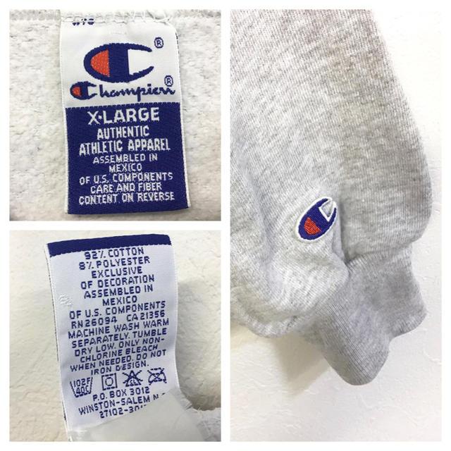 Champion(チャンピオン)の美品 90's champion スウェット 刺繍カレッジロゴトレーナー メンズのトップス(スウェット)の商品写真