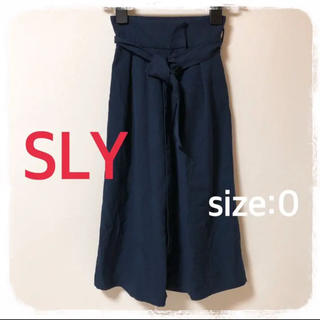 SLY - SLY ★ ハイウエスト ベルト付き スカーチョ ガウチョパンツ