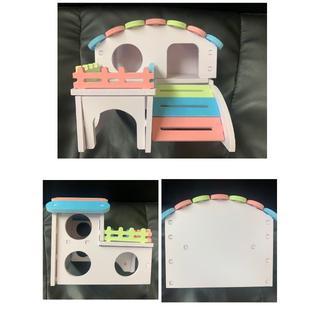 可愛い!ハムスター 組み立て式小動物用ハウス おもちゃ
