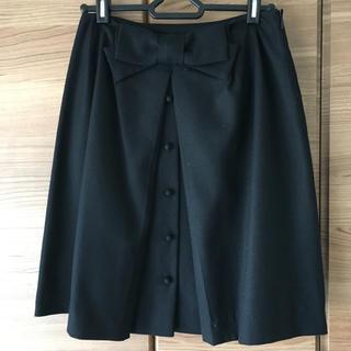 アナトリエ(anatelier)のアナトリエ  リボンスカート 黒  サイズ36(ひざ丈スカート)