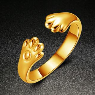 リング レディース 猫 指輪 肉球 猫の手 キャット ジュエリー アクセサリー(リング(指輪))