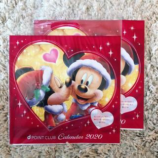 ディズニー(Disney)のドコモ ディズニーカレンダー 壁掛け 2部(カレンダー)