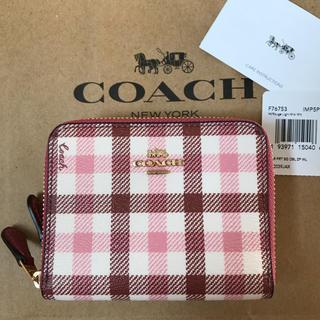 COACH - 新品!コーチ ダブルジップ 財布 シグネチャー チェック