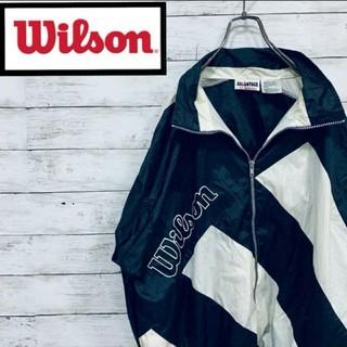 ウィルソン(wilson)の010★ 90s Wilson ナイロンジャケット ウィルソン ビッグロゴ(ナイロンジャケット)