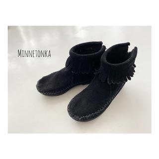 ミネトンカ(Minnetonka)のミネトンカフリンジブーツ 14㎝(ブーツ)