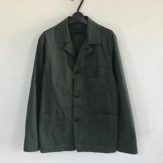 ユニクロ(UNIQLO)のUNIQLO カバーオール シャツジャケット ワークシャツ ダークグリーン(カバーオール)