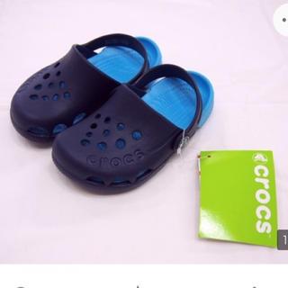 クロックス(crocs)の新品 クロックス KID エレクトロ C8 15,5cm  ブルー(サンダル)