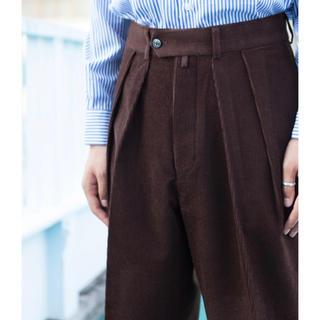 ワンエルディーケーセレクト(1LDK SELECT)の新品 NEAT ニート Wool Cotton Corduroy Wide 48(スラックス)