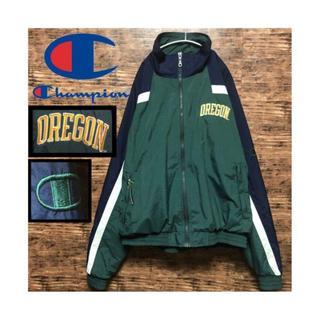 Champion - チャンピオン 刺繍 OREGON オレゴン ナイロンジャケット ビッグシルエット