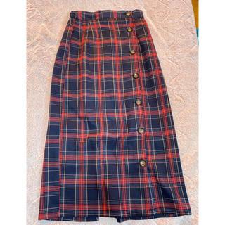 ナチュラルクチュール(natural couture)のチェックスカート(ひざ丈スカート)