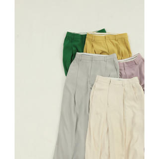 TODAYFUL - todayful / Georgette Rough Trousers エクリュ