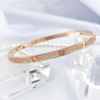 Cartier - 【保証書付/仕上済】カルティエ ラブブレス ブレス PG 17インチ ダイヤ