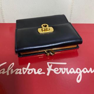 Salvatore Ferragamo - 極美品 サルヴァトーレ  フェラガモ ガンチーニ 金具 がま口 小銭入れ 財布