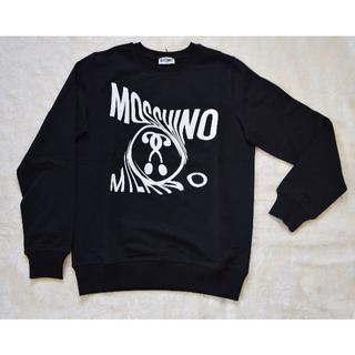 【新品・未使用】MOSCHINO 長袖スウェットシャツ ブラック 14A