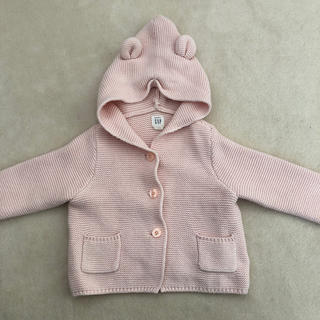 babyGAP - babygap くま耳 ガーターセーター ピンク