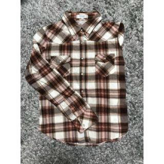 ブラウン チェックシャツ(シャツ/ブラウス(長袖/七分))