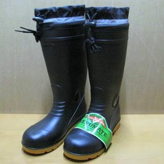 F-9665 PVC安全ブーツ 黒 25.0・26.5・27.0 各1足(長靴/レインシューズ)