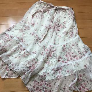 レストローズ(L'EST ROSE)のお腹ゴムスカート アシンメトリー(ひざ丈スカート)