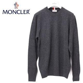 MONCLER - 18 MONCLER グレー トリコロールライン カシミア ニット M