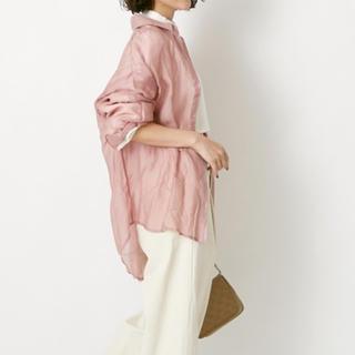 TODAYFUL - 【即納】シアーシャツ くすみピンク