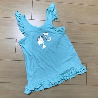 バービー(Barbie)のBarbie☆バービー☆フリルキャミ☆水色☆140cm(Tシャツ/カットソー)